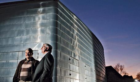Jean Mouzat (Maire) et Jean-François Poumier (Président de l'Association)  Crédit photo : Rodolpho Escher